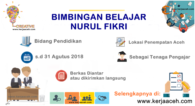 Lowongan Kerja Aceh Terbaru di Banda Aceh Bimbel Nurul Fikri tenaga pengajar fisika dan tenaga pengajar ekonomi