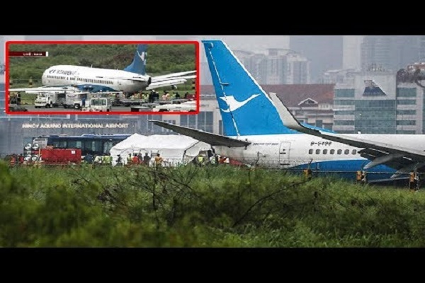 EROPLANO NG XIAMEN AIRLINES NG CHINA SUMADSAD SA RUNWAY NG NINOY AQUINO INTERNATIONAL AIRPORT NAIA!