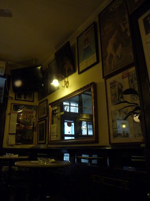Detalle del interior del Café Isadora