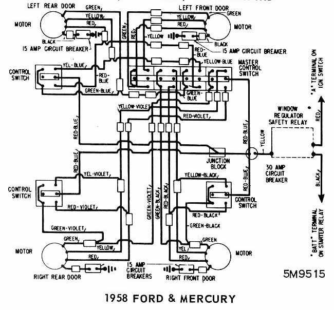 1958 Ford Headlight Switch Wiring Diagram Wiring Schematic Diagram