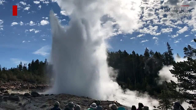 World's Tallest Active Geyser Erupts in Yellowstone National Park for the 9th Time