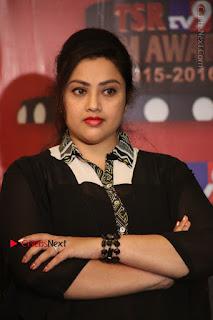 Tamil Actress Meena Latest Stills in Black Dress at TSR TV9 Awards Press Meet  0103.JPG