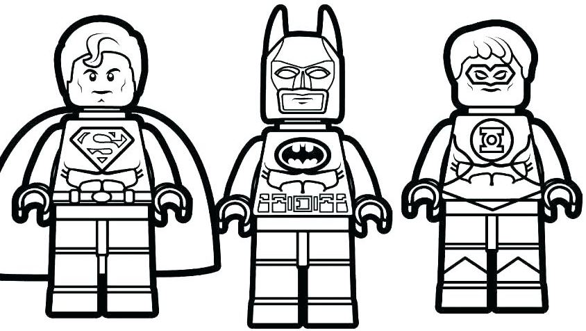 Gambar Mewarnai Batman Lego