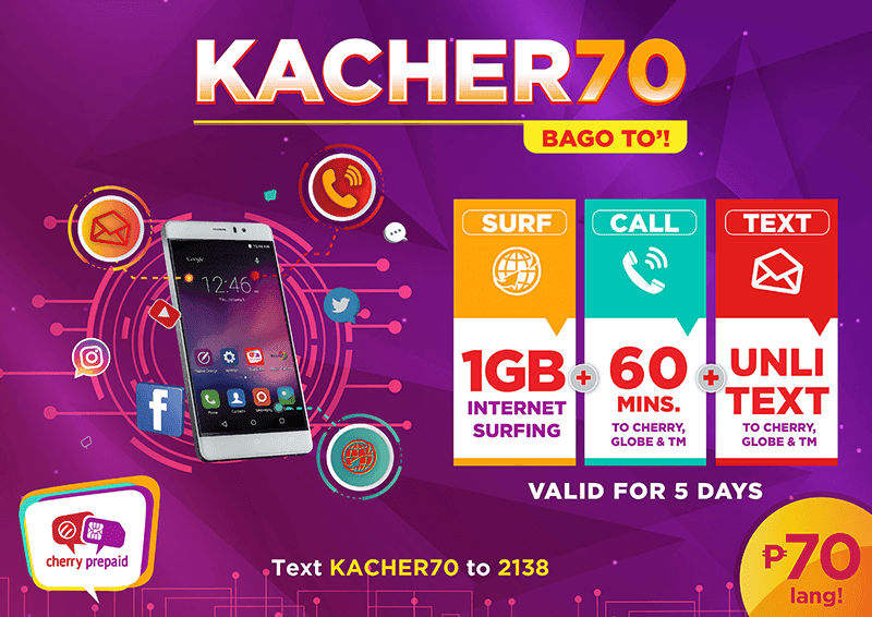 Cherry Prepaid launches KACHER70 promo