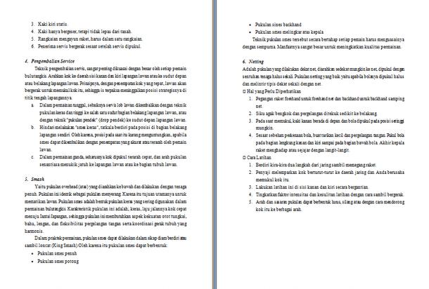 Contoh Proposal Olahraga Badminton Rasmi F