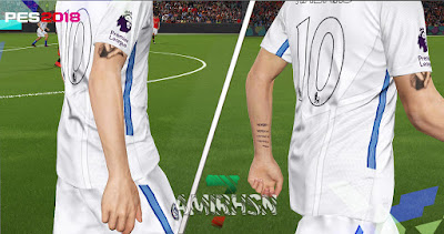 PES 2018 Mega Tattoopack by Amir.Hsn7