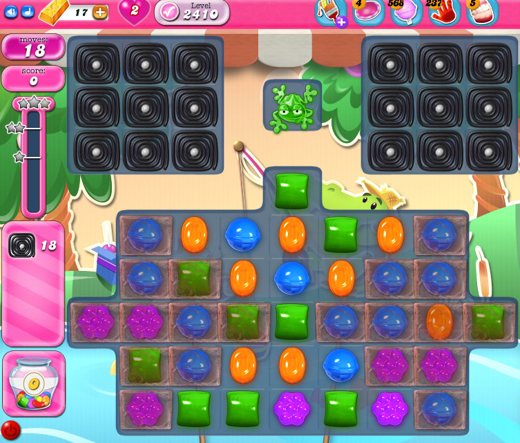 Candy Crush Saga level 2410