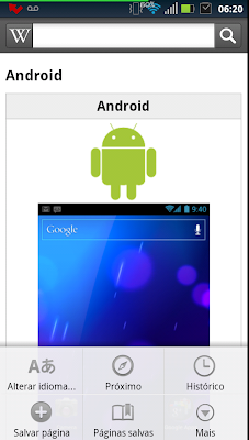 Wikipedia Móvel para Android 4