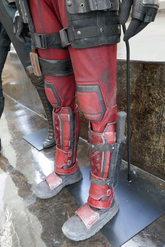 Deadpool 2 legs costume detail