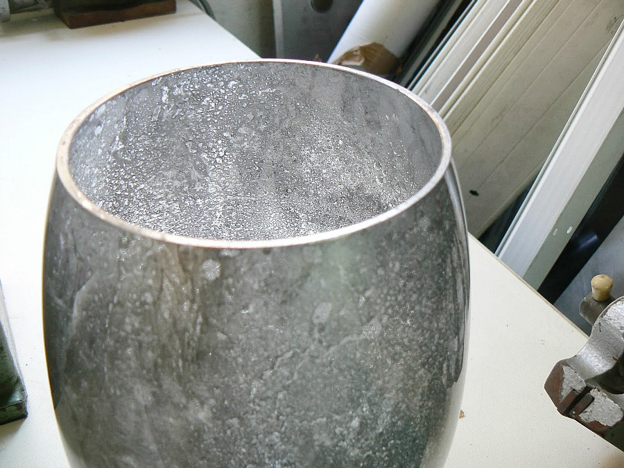 Mercury glass flower vase
