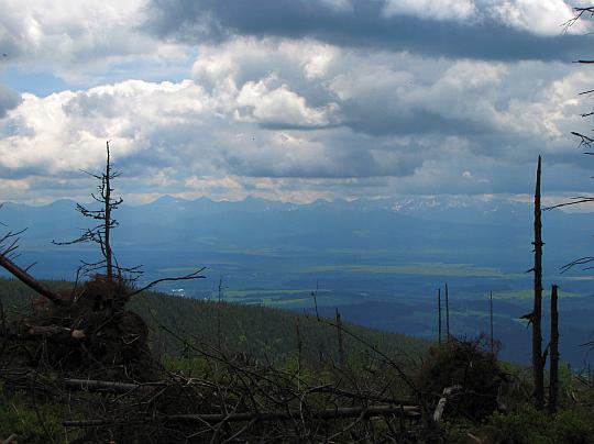 Panorama na Tatry.
