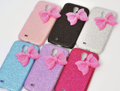 Colorful Bow knots sparkling mobile back cases for iPhone and Samsung