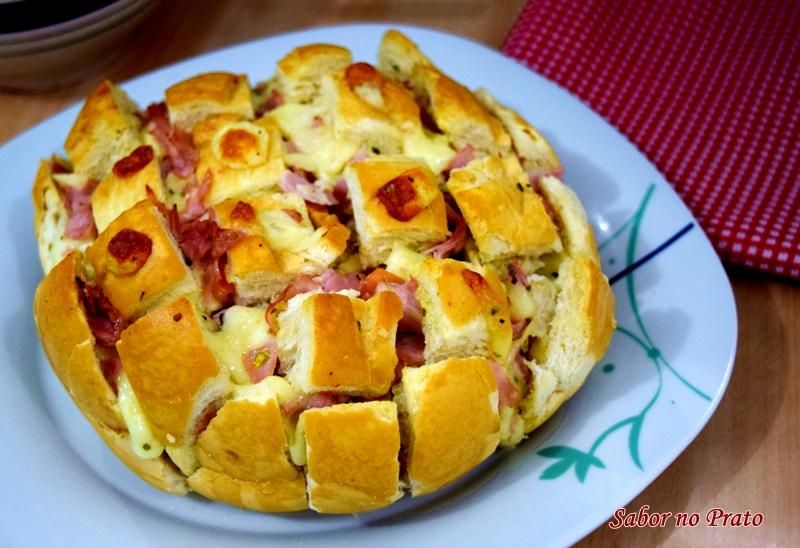Receita de pão italiano recheado para aperitivo