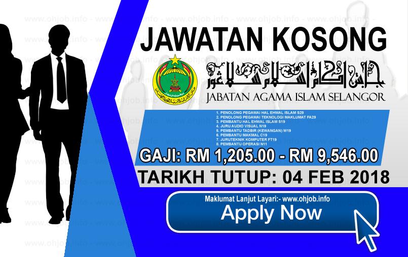 Jawatan Kerja Kosong Jabatan Agama Islam Selangor - JAIS logo www.ohjob.info februari 2018