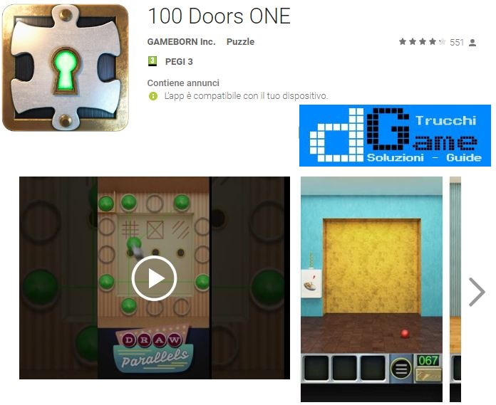 Soluzioni 100 Doors ONE livello 11 12 13 14 15 16 17 18 19 20 | Trucchi e Walkthrough level