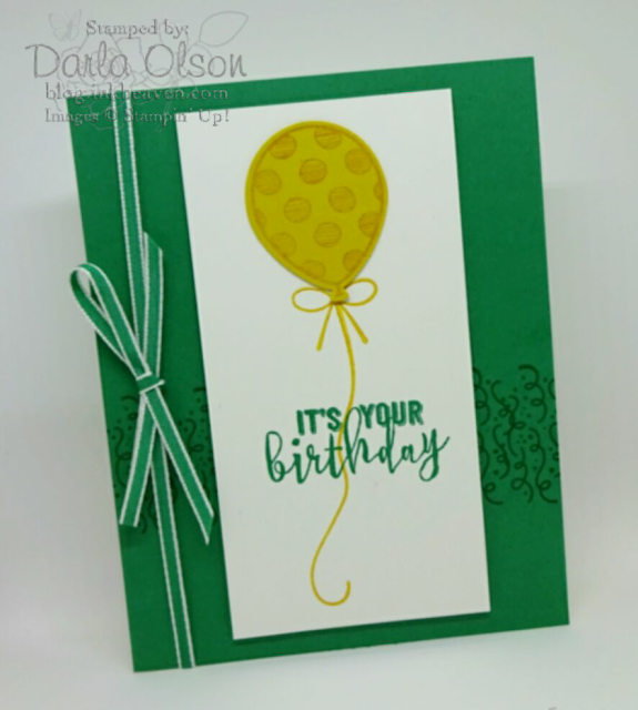 Quick & Easy Balloon Adventures card copied from the Stampin' Up! Occasions catalog by Darla Olson at inkheaven