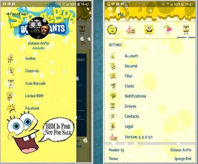 Download BBM Mod Spongebob