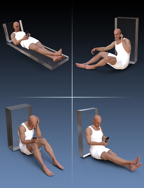 Smart Phone Poses and Prop for Michael 8