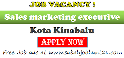 Job vacancy for sales marketing