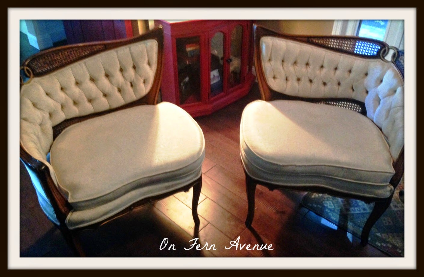 French-country-chairs-painted-fabric-using-fabric-medium