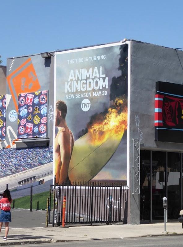 Animal Kingdom season 2 wall mural ad