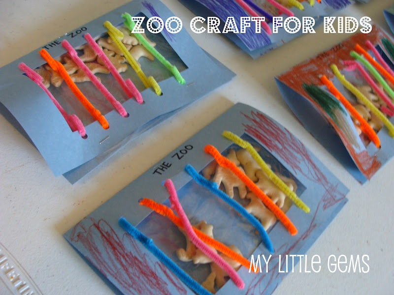 My Little Gems Zoo Craft For Kids