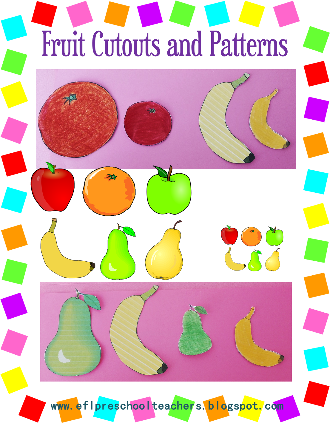 Esl Efl Preschool Teachers Fruit Theme For The Ell