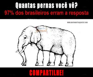 Teste - Quantas pernas você vê no elefante?