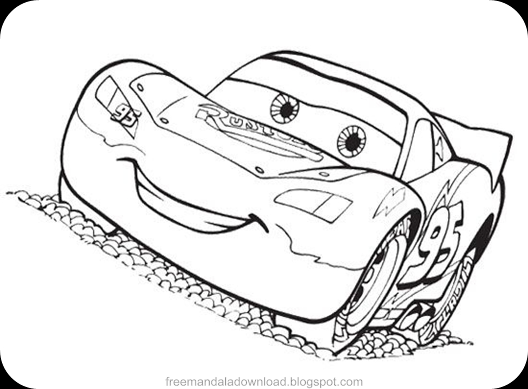 free mandala disney lightning mcqueen coloring pages download