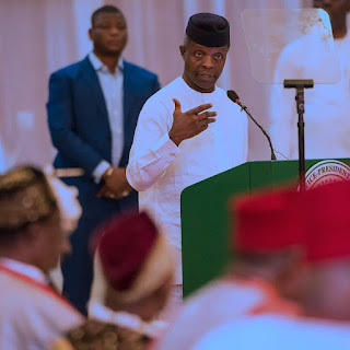 photos: yemi osinbajo meets south east traditional rulers
