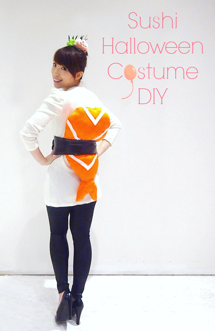 My Favourite DIY Halloween Costumes - DIY Sushi Costume