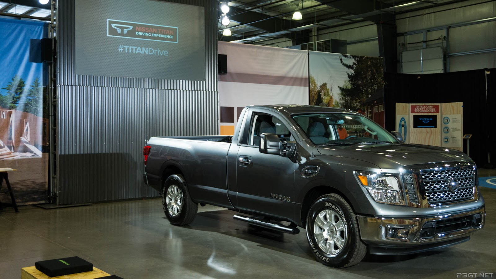 where we were introduced to the newly launched single cab fleet version of the titan and shown a short video full of much pickup ness