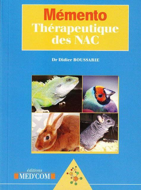 Mémento thérapeutique des NAC - WWW.VETBOOKSTORE.COM