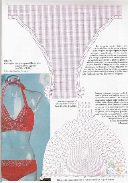 Patron Bikini de Crochet