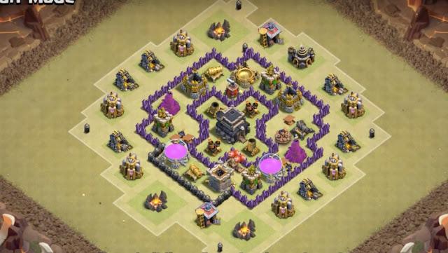 Kumpulan Formasi War Base Town Hall 6 Dengan 3 Air Defense