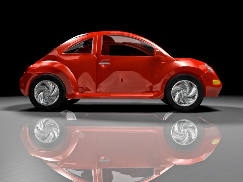 Auto en 3D desarrollado en Blender