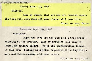 A Galaktikus Föderáció üzenete az emberiségnek - az 1950-es évekből