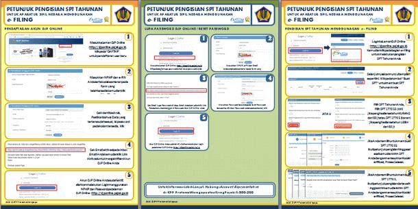 Petunjuk Pengisian SPT Tahunan Pajak Melalui e-Filing untuk ASN