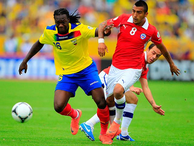 Ecuador y Chile en Clasificatorias a Brasil 2014, 12 de octubre de 2012