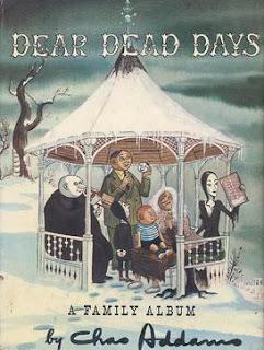 Ilustración de Charles Addams con los personajes de la familia Addams