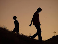 two boys moving in different direction(broken relation)