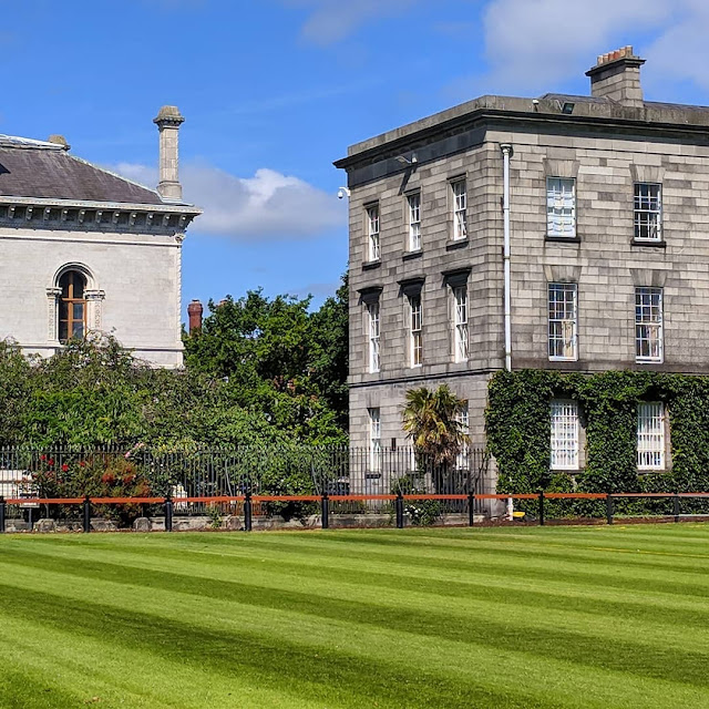 One Day in Dublin City Itinerary: green lawn at Trinity College Dublin