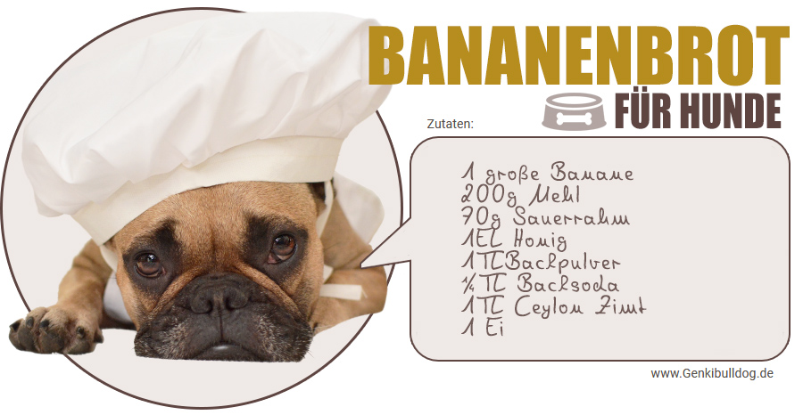 Rezept Hundekuchen Bananenbrot für Hunde selbst backen