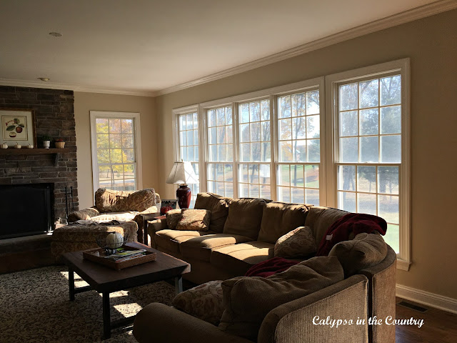 Wall of Windows - before plantation shutters were installed