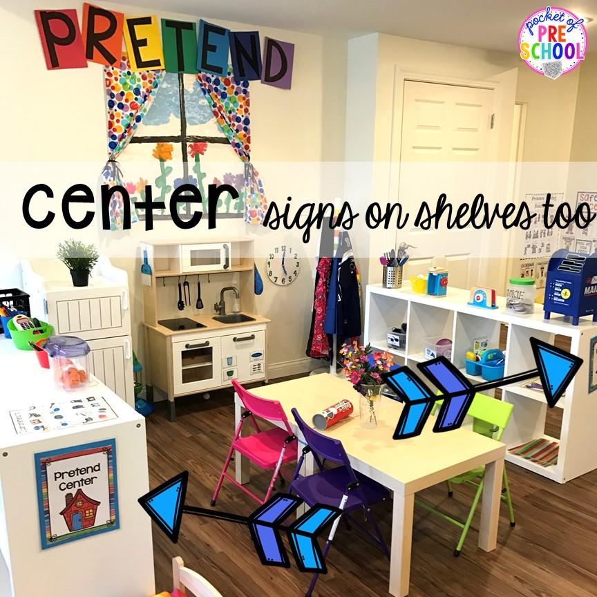 editable center signs