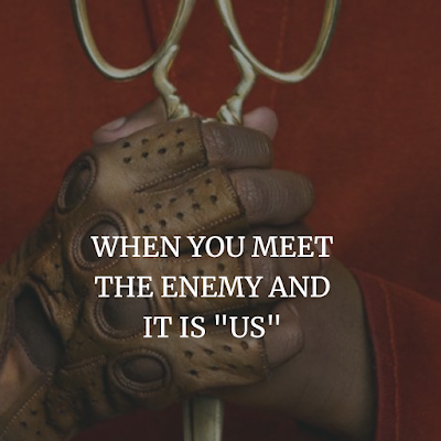 WHEN YOU MEET THE ENEMY AND IT IS US