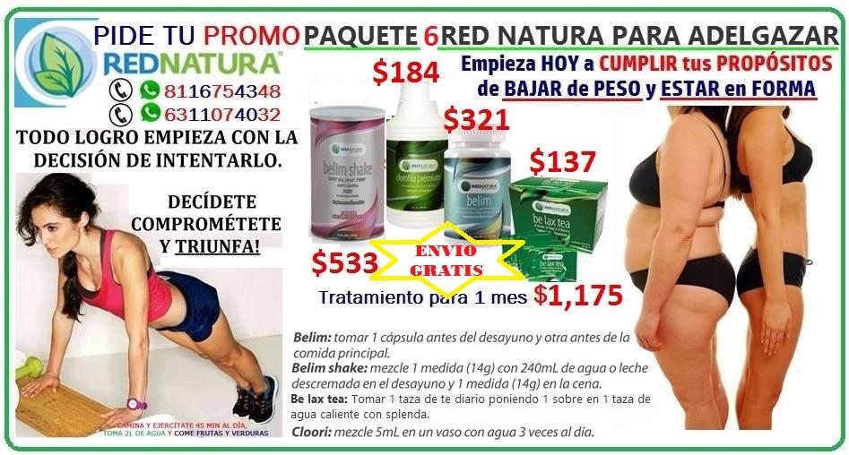 productos de rednatura para bajar de peso