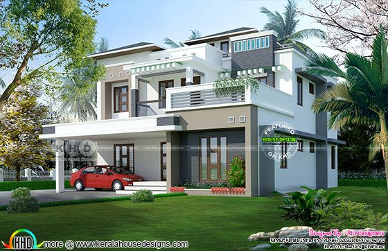5 Bedroom contemporary home in 9 cent land