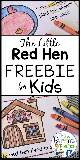 My Preschool and Kindergarten kids love to do activities that go with the Little Red Hen. This FREE Emergent Reader download has easy-to-read text & includes 20 pages to print! It's also perfect for high frequency word practice.