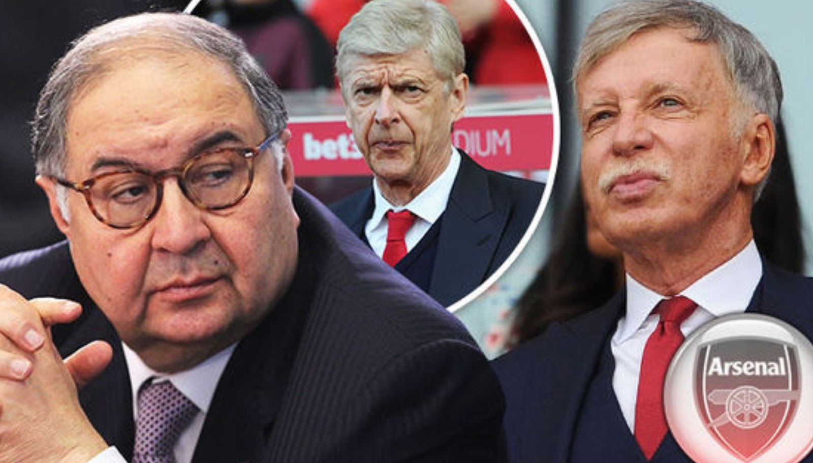 Arsenal club owners are Stan Kroenke & Alisher Usmanov